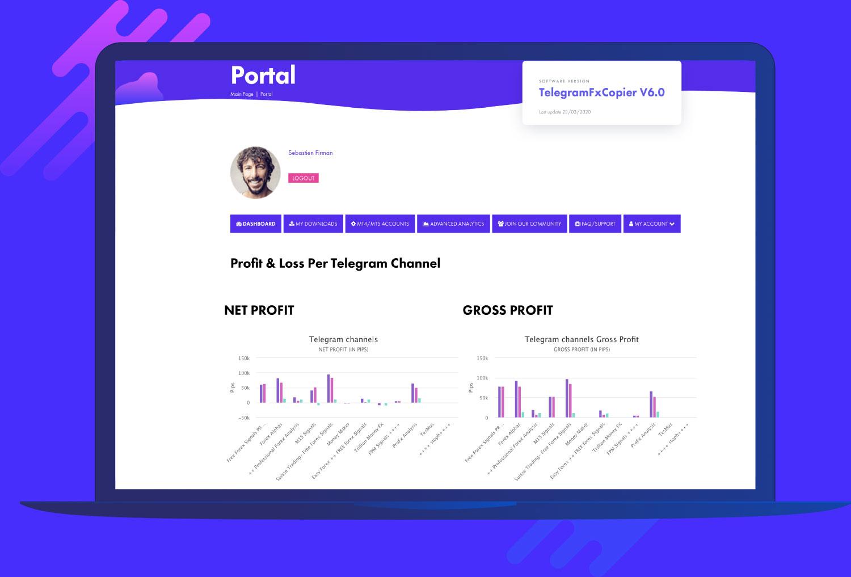 TelegramFxCopier Portal